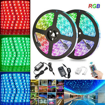 1-30M LED Stripe RGB Leiste Streifen Band 5050 SMD IP65 Wasserdicht Lichterkette