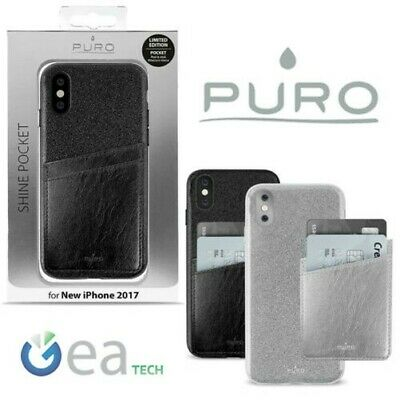 Puro Shine Pocket Cover for IPHONE x XS TPU Card Case with 3M Glitter