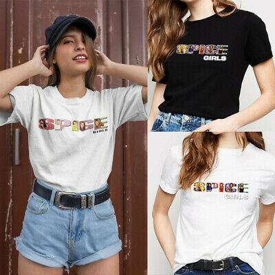 Ladies Spice Girls Gig T-Shirt 2019 Tour Printed Baggy Tee Top Concert Womens UK