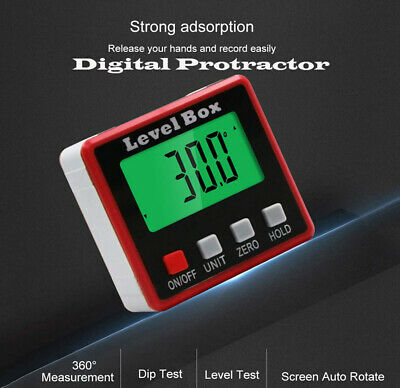 LCD Digital Cube Inclinometer Angle Gauge Meter Protractor Electronic Level Box