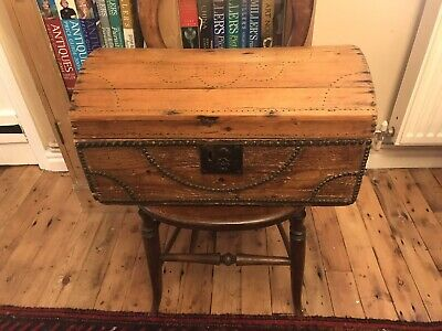 Really Pretty Antique Pine Small Domed Box