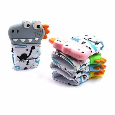 Dinosaur Baby Teething Self Soothing Pain Relief Stimulating Teether Toy Glove X