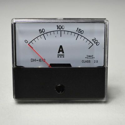 DC 0-200A Analog Amp Meter HOT UPDATED NEW Ammeter Current Panel TOP