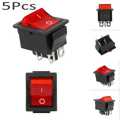 Electrical  4 Pin 16A  2 Position Rocker Switch DPST With Light ON/OFF