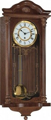Hermle Fulham Mechanical Regulator Wall Clock - Walnut - Westminster Chime