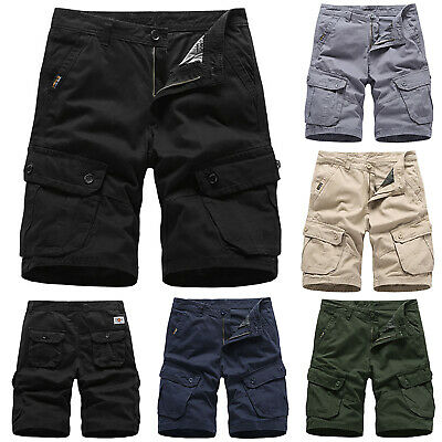 Mens Army Cargo Shorts Work Camping Fishing Camouflage Outdoor Pants Trousers AU