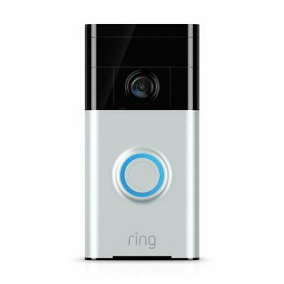 Ring Wireless Wi-Fi Enabled Video Doorbell in Satin Nickel - Brand New