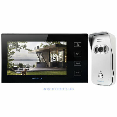 7'' HOMSECUR Video Entry Intercom with Silver IR HD Camera, Works with 12V Lock