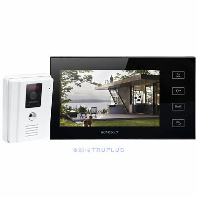 HOMSECUR 7inch Wired Video Entry Intercom with 100° Wide View Angle HD IR Camera