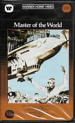 Master Of The World VHS Big Box Clamshell Warner Home Video Vincent Price 1961