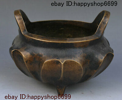 Antique Old China Dynasty Bronze Incense Burner Censer Incensory Thurible Statue