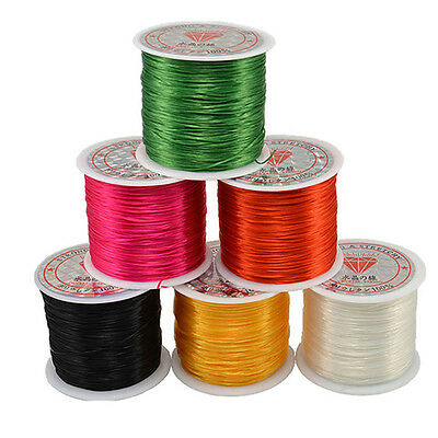 1 Roll Elastic Cord Crystal String For Jewelry Making 50m Useful Stretchy