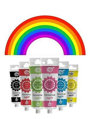 Food Colouring Icing sugarcraft sugar paste cake decorating Rainbow Dust 6 pack