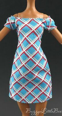 Monster High Doll~Frankie Stein~Day At the Maul~Killer Style~Plaid Blue Dress