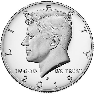 2019 S Silver Kennedy Half Dollar Proof Ultra Cameo .999 Silver First Ever .999