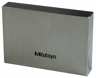 Mitutoyo Steel Rectangular Gage Block, ASME Grade 0, 0.75 mm Length.