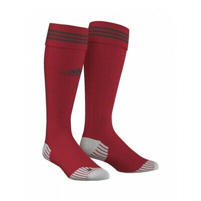 Adidas Adisock 12 Mens Red Soccer Socks Stripe Football Sz US-9-10.5 Rugby New