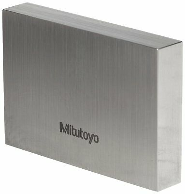 "Mitutoyo Steel Rectangular Gage Block, ASME Grade AS-2, 0.004"" Length."