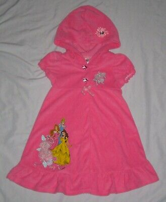 bd6d704cdca9b Toddler Girls DISNEY PRINCESS Terry Ruffled Swim Cover Up size 3T - Only  Worn 1X