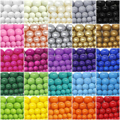 "Czech Opaque Glass Beads Round Pearl Coated 4mm 6mm 8mm 10mm 12mm 16"" Strand"