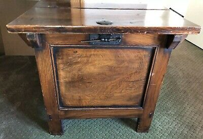"""Antique Asian Chinese 31"""" Wide Trunk/ Chest"""