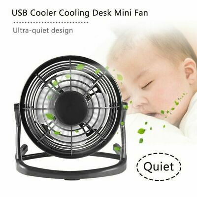 1 USB Ventilateur Mini Bureau Table Portable Silencieux Ordinateur PC Inclinable
