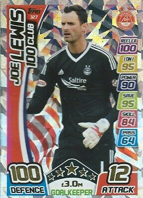 Match Attax Spfl 2017/18 Hundred 100 Club Joe Lewis Aberdeen