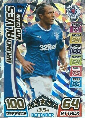 Match Attax Spfl 2017/18 Hundred 100 Club Bruno Alves Rangers
