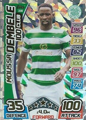 Match Attax Spfl 2017/18 Hundred 100 Club Moussa Dembele Celtic