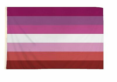 LESBIAN FLAG Banner 5 x 3 Festival Carnival Parade Party LGBT Gay Pride Rainbow