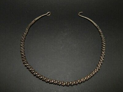Silver Celtic Torque neck ring 600 - 100 b.c.