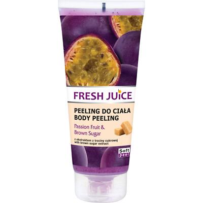 Green Pharmacy FRESH JUICE Body Peeling Scrub Passion Fruit & Brown Sugar 200ml