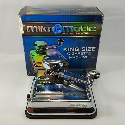 MikrOmatic Cigarette Making Injector Machine by Top O Matic King Size