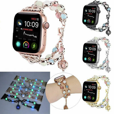 For Apple Watch 4/3/2/1 38MM 42MM Bling Agate Beads Strap Bracelet Band iWatch