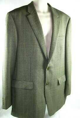 Lauren Ralph Lauren (46 L) Men's Houndstooth Wool 2 Button Blazer Sport Coat