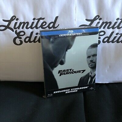 FAST AND FURIOUS 7 -blu ray-STEELBOOK-exclusive,Extende,PAUL WALKER version-