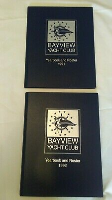 2 Bayview Yacht And Roster 1991 & 1992 Books HC