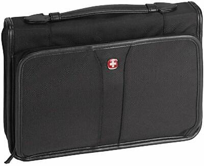 Black Ballistic Nylon Fabric Bible Cover Case with Handle X-Large