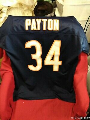 4d8a449751f Walter Payton Chicago Bears NFL Reebok Throwback Stitched Jersey Adult Large
