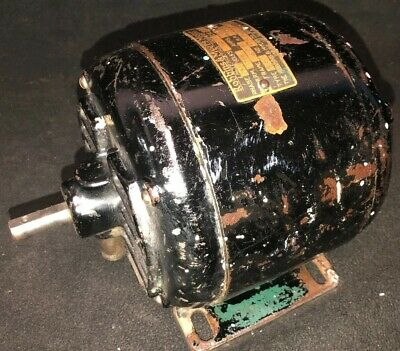 Rare Antique VINTAGE ROBBINS MYERS Cast Iron  MOTOR 1/4 HP 1750 RPM 5.7 AMPS