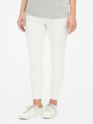 caa5240d3add6 Gap Maternity Full Panel True Skinny Ankle Jeans Size 31R- White- NWT