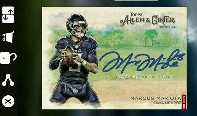 Topps HUDDLE - Allen & Ginter - MARCUS MARIOTA auto -  Digital card ONLY - 680cc