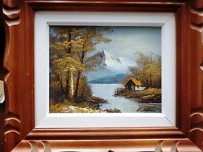 """G. Whitman Original Oil Painting Framed size 14""""W x 16""""H Signed by Artist"""