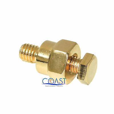 Car GM Install Gold-Plated Short Side Post Battery Terminal Positive Negative