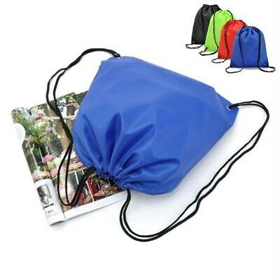 Waterproof Drawstring Backpack Storage Bags Solid Sports Travel Casual Lot