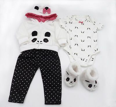 "24"" Panda Clothes For Realistic Silicone Toddler Reborn Baby Girl Dolls Clothing"