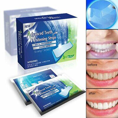 28 Professional Advanced Teeth Whitening Strips Tooth Bleaching White Strip GN