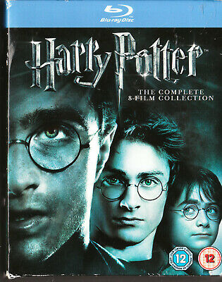 Harry Potter Complete 8 Film Blu Ray Box Set=11 Discs=Region B Inc Aust=Like New