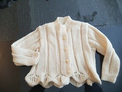 Babies gorgeous hand knitted cardigan size approx 18 -24 months