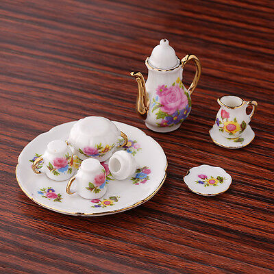 1:12 New Mini Porcelain Set For Miniature Dollhouse Toy Kids Nice